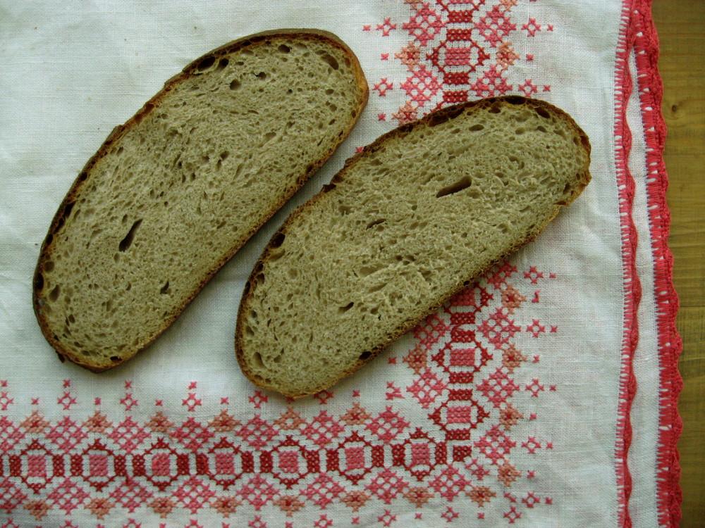 Kromki chleba z płaskurki